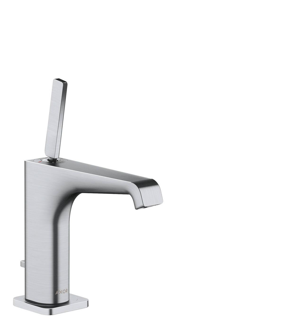 Single lever basin mixer 130 with pop-up waste set, Brushed Chrome, 36100260