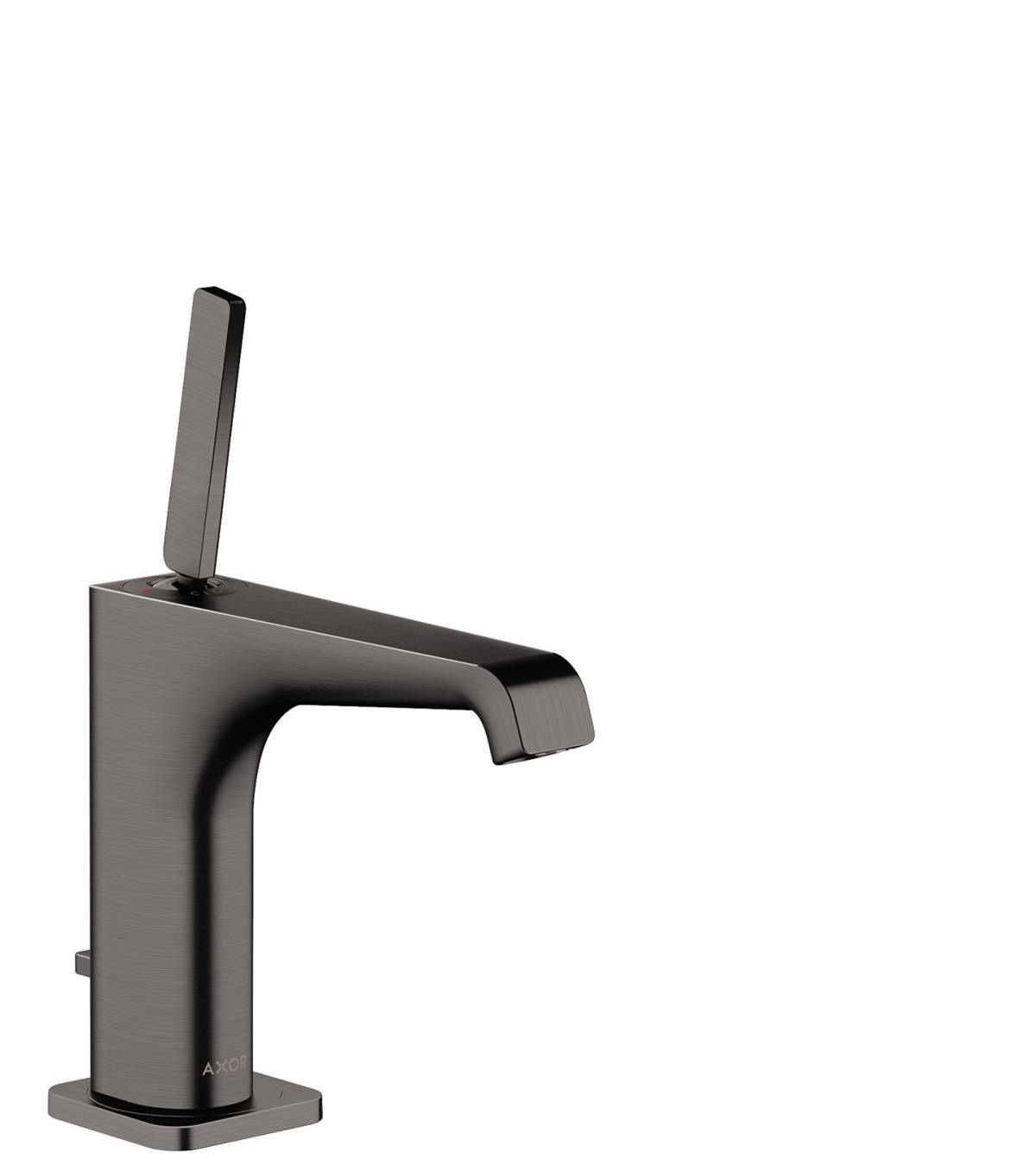 Single lever basin mixer 130 with pop-up waste set, Brushed Black Chrome, 36100340
