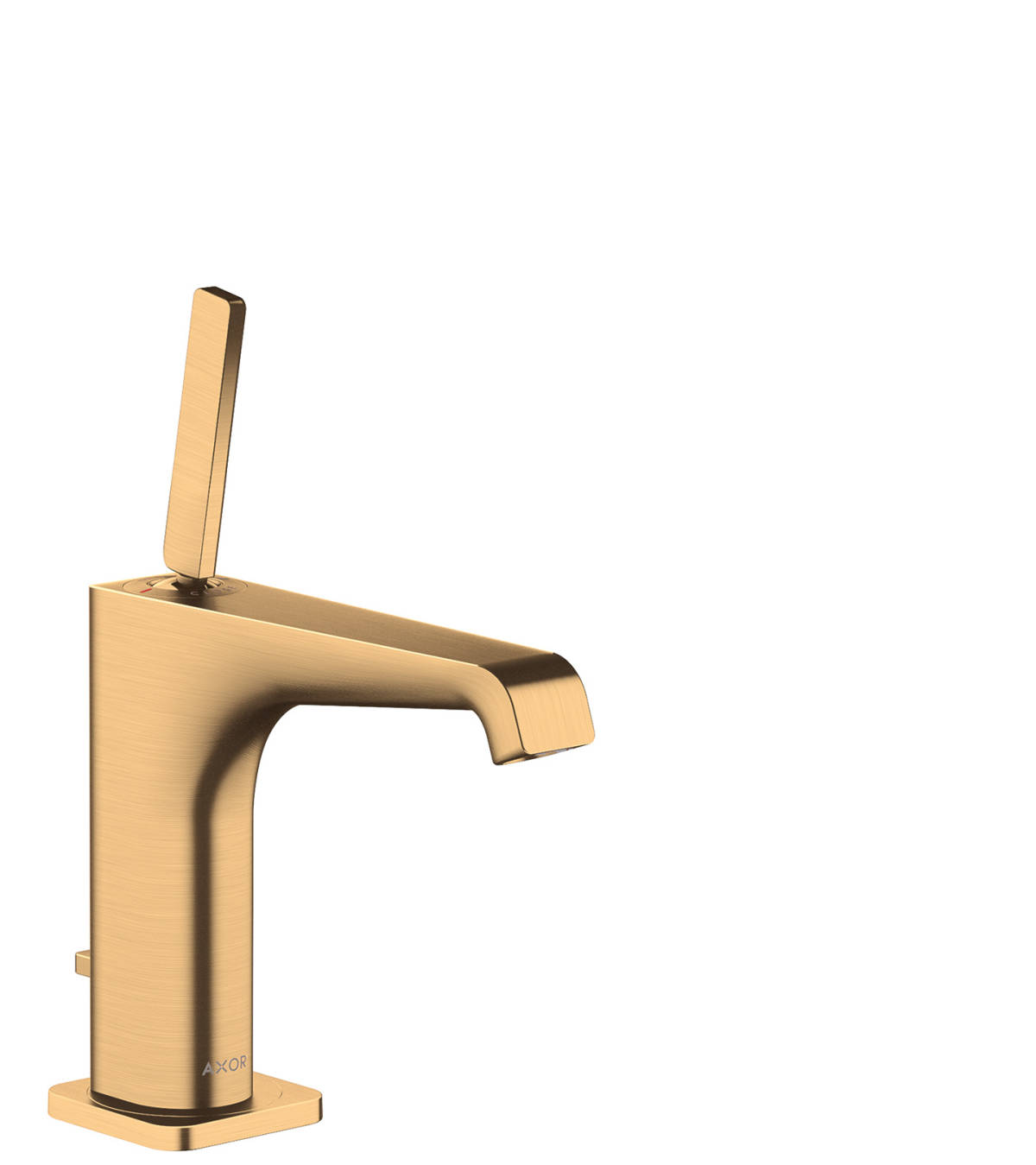Single lever basin mixer 130 with pop-up waste set, Brushed Brass, 36100950