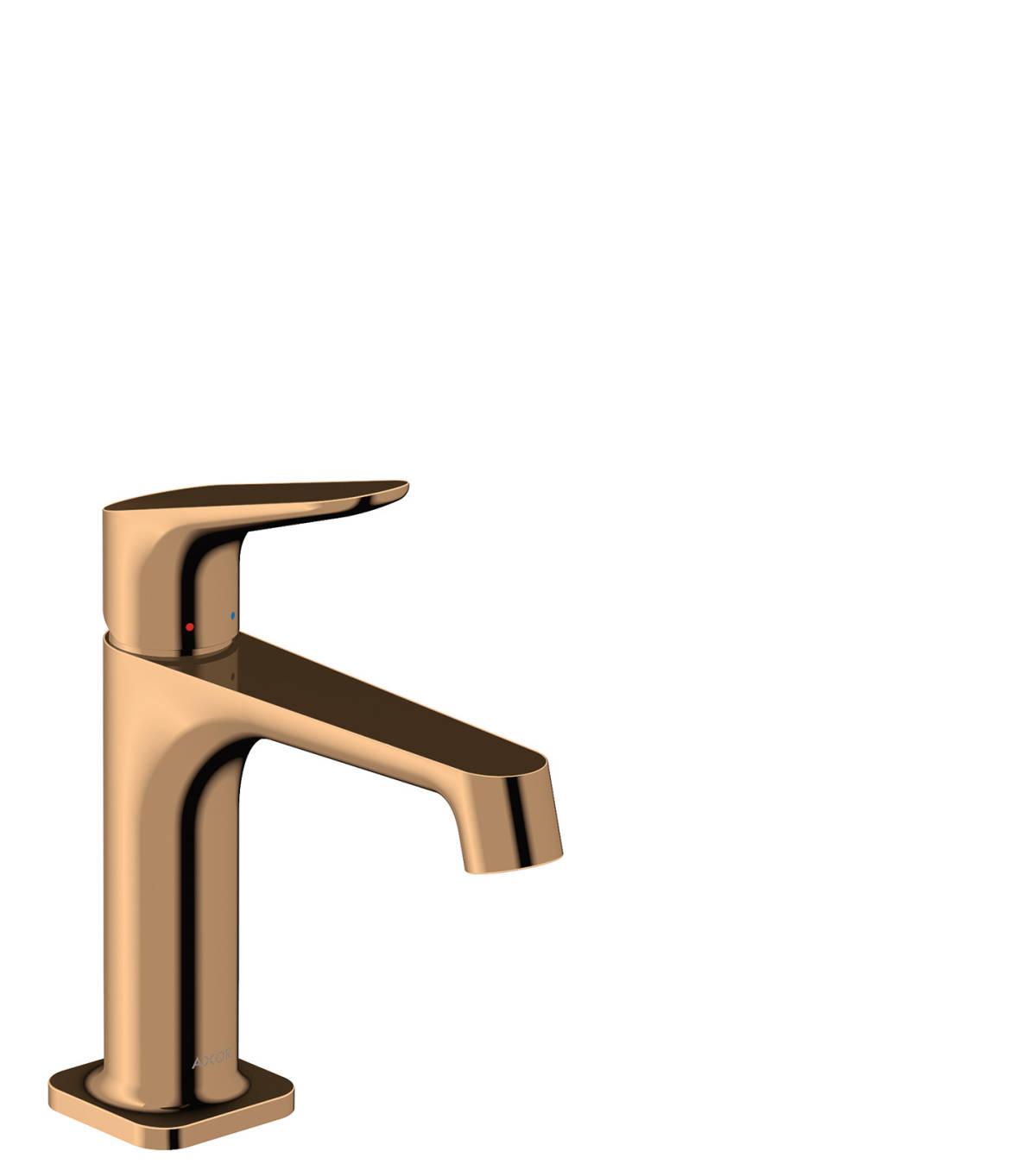 Single lever basin mixer 100 with pop-up waste set, Polished Bronze, 34010130