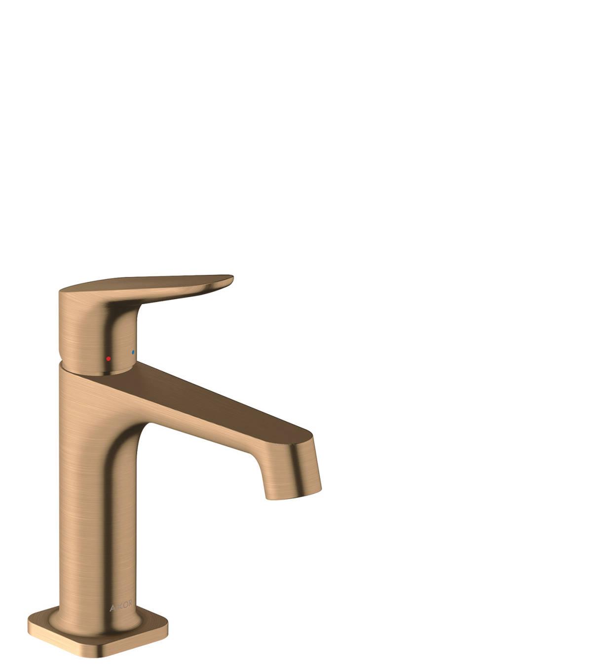 Single lever basin mixer 100 with pop-up waste set, Brushed Bronze, 34010140