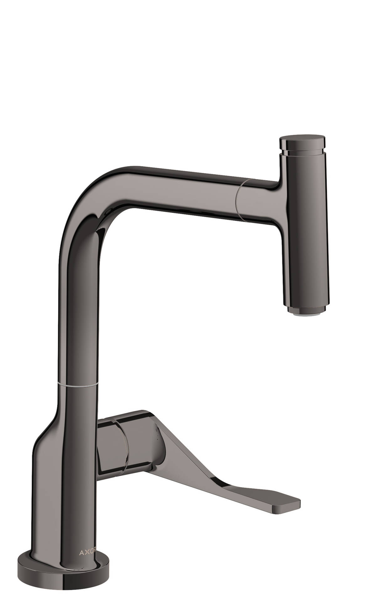 Single lever kitchen mixer Select 230 with pull-out spout, Polished Black Chrome, 39861330