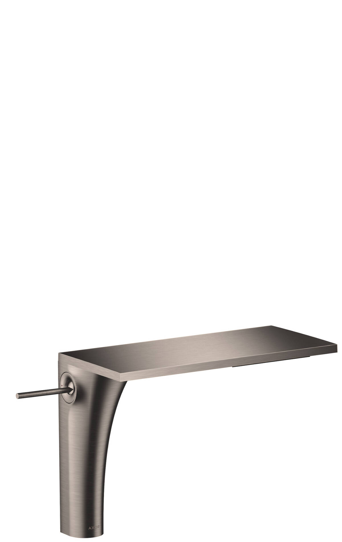 Single lever basin mixer 220 without pull-rod for wash bowls, Stainless Steel Optic, 18020800
