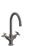 2-handle basin mixer 210 with cross handles and pop-up waste set
