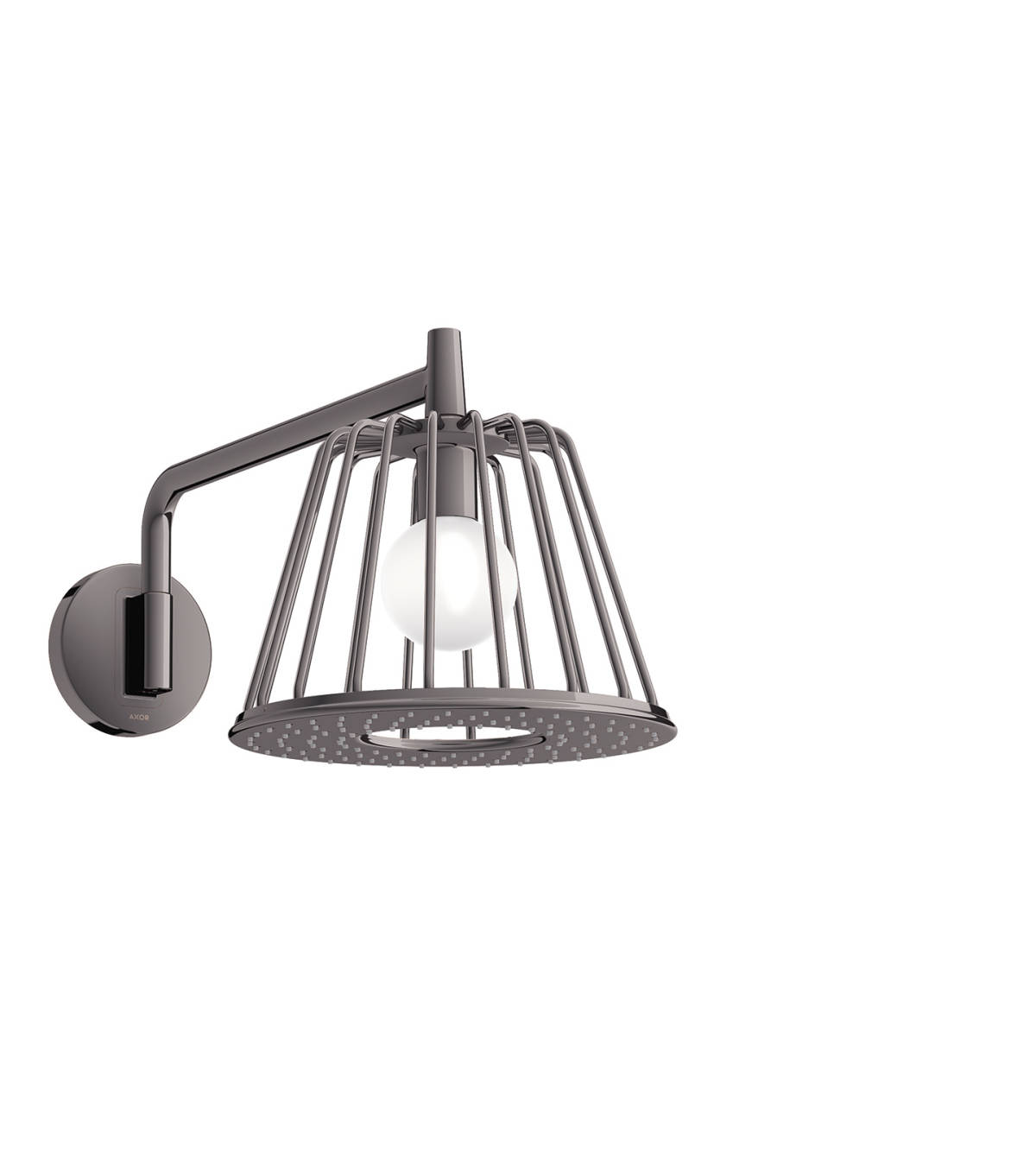 LampShower 275 1jet with shower arm, Polished Black Chrome, 26031330