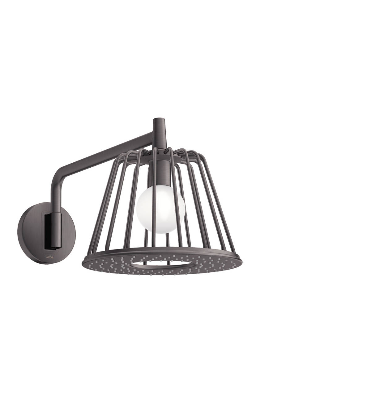 LampShower 275 1jet with shower arm, Brushed Black Chrome, 26031340
