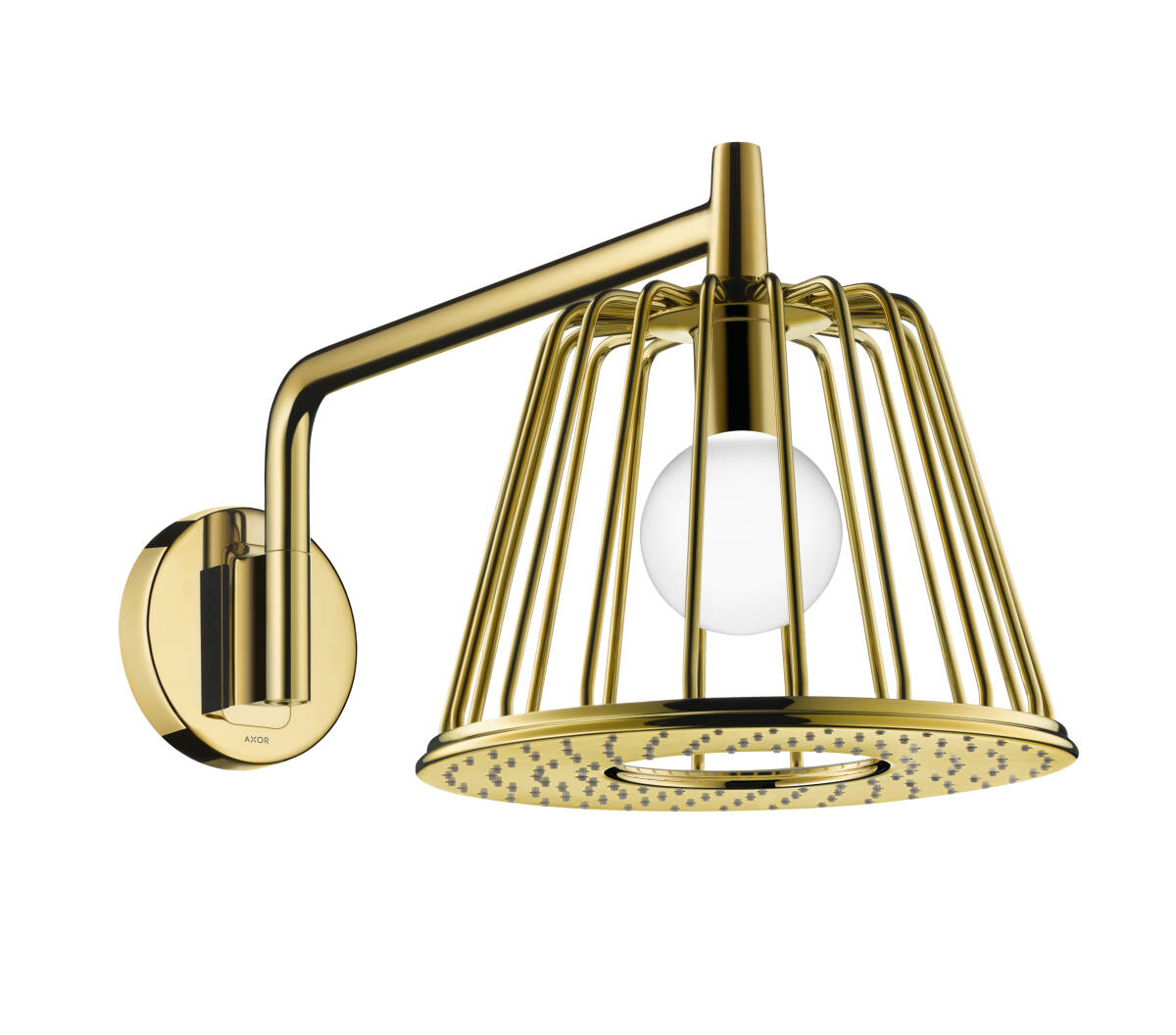 LampShower 275 1jet with shower arm, Polished Gold Optic, 26031990