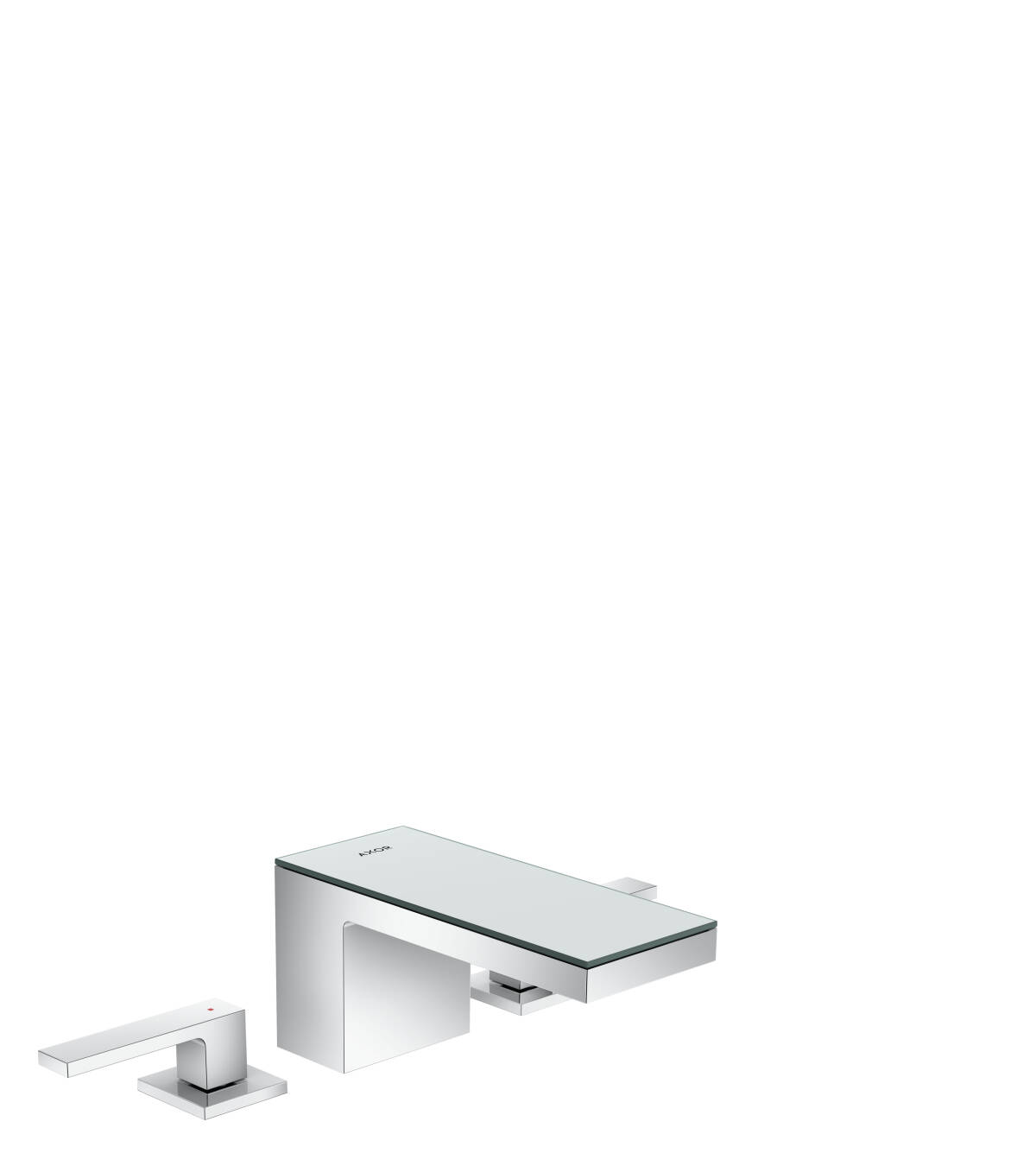 3-hole basin mixer 70 with push-open waste set, Chrome/Mirror Glass, 47050000