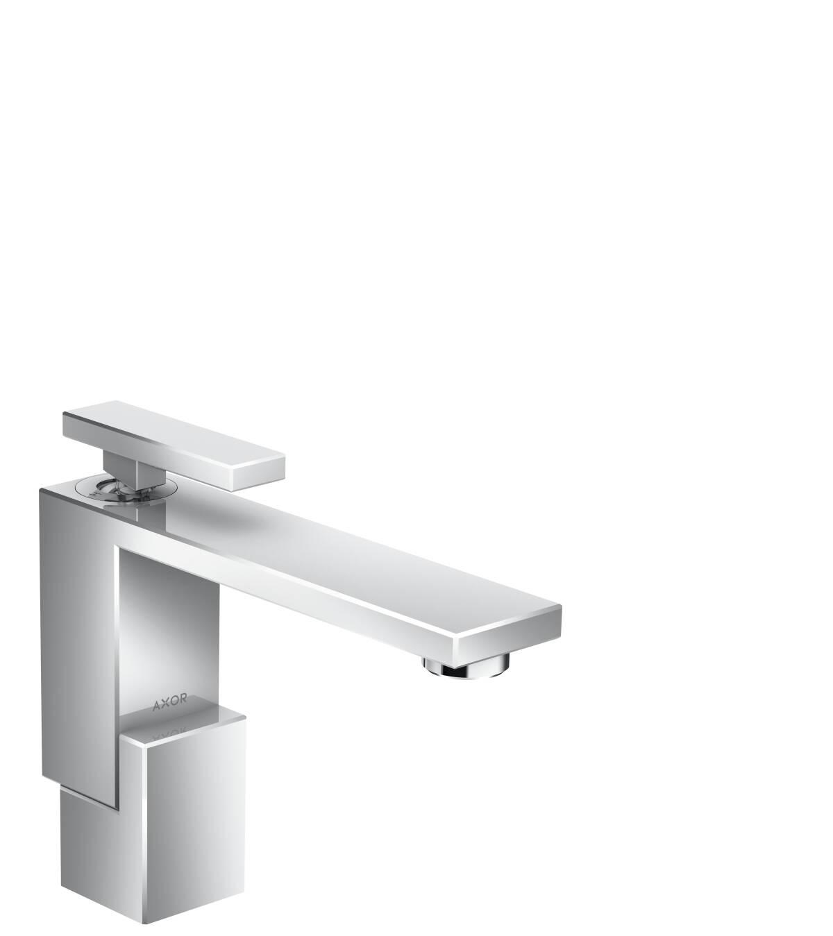 Mezclador monomando de lavabo 130 con vaciador push-open, cromo, 46010000