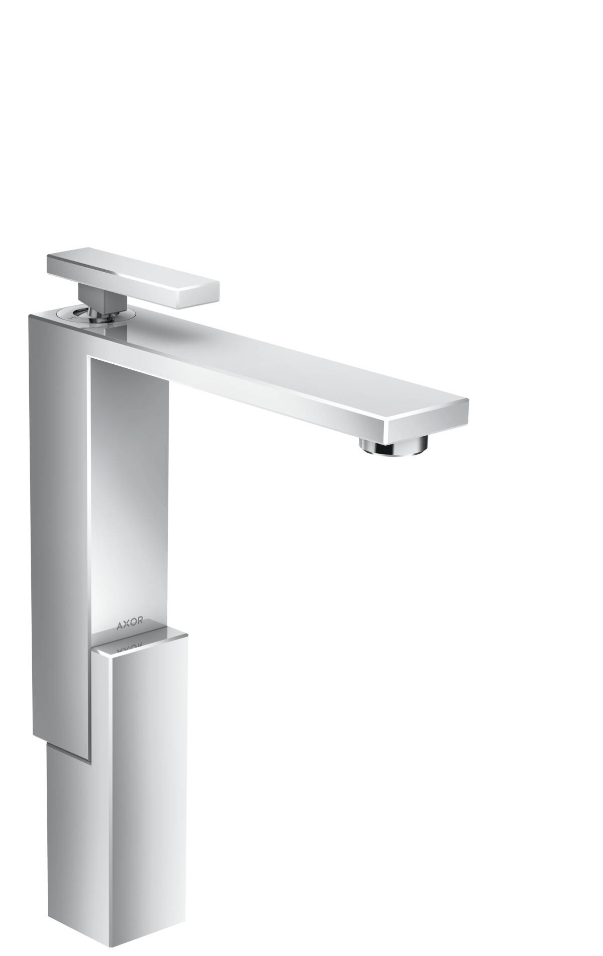 Single lever basin mixer 280 for wash bowls with push-open waste set, Chrome, 46030000