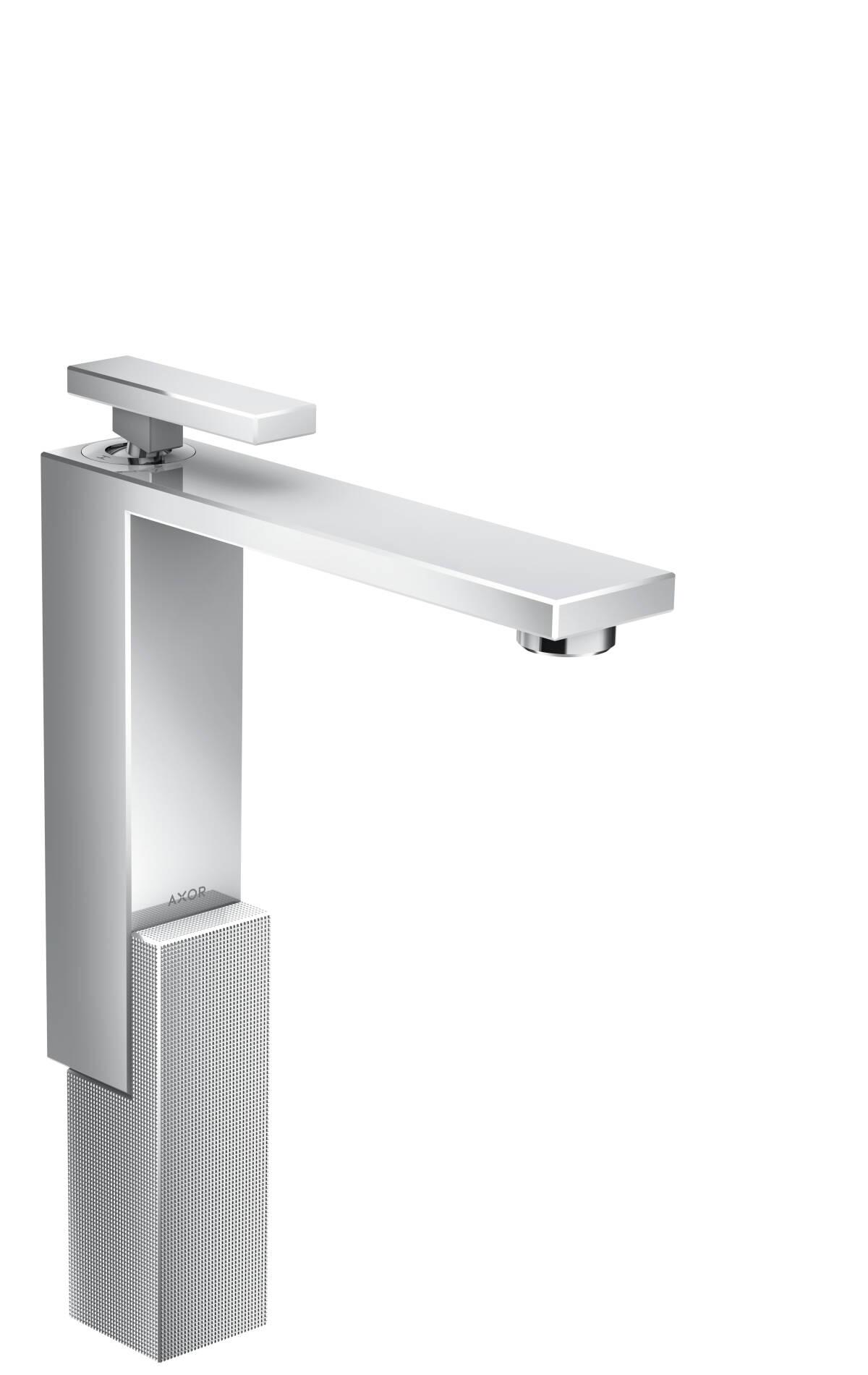 Mezclador monomando de lavabo 280 con vaciador push-open - corte de diamante, cromo, 46031000