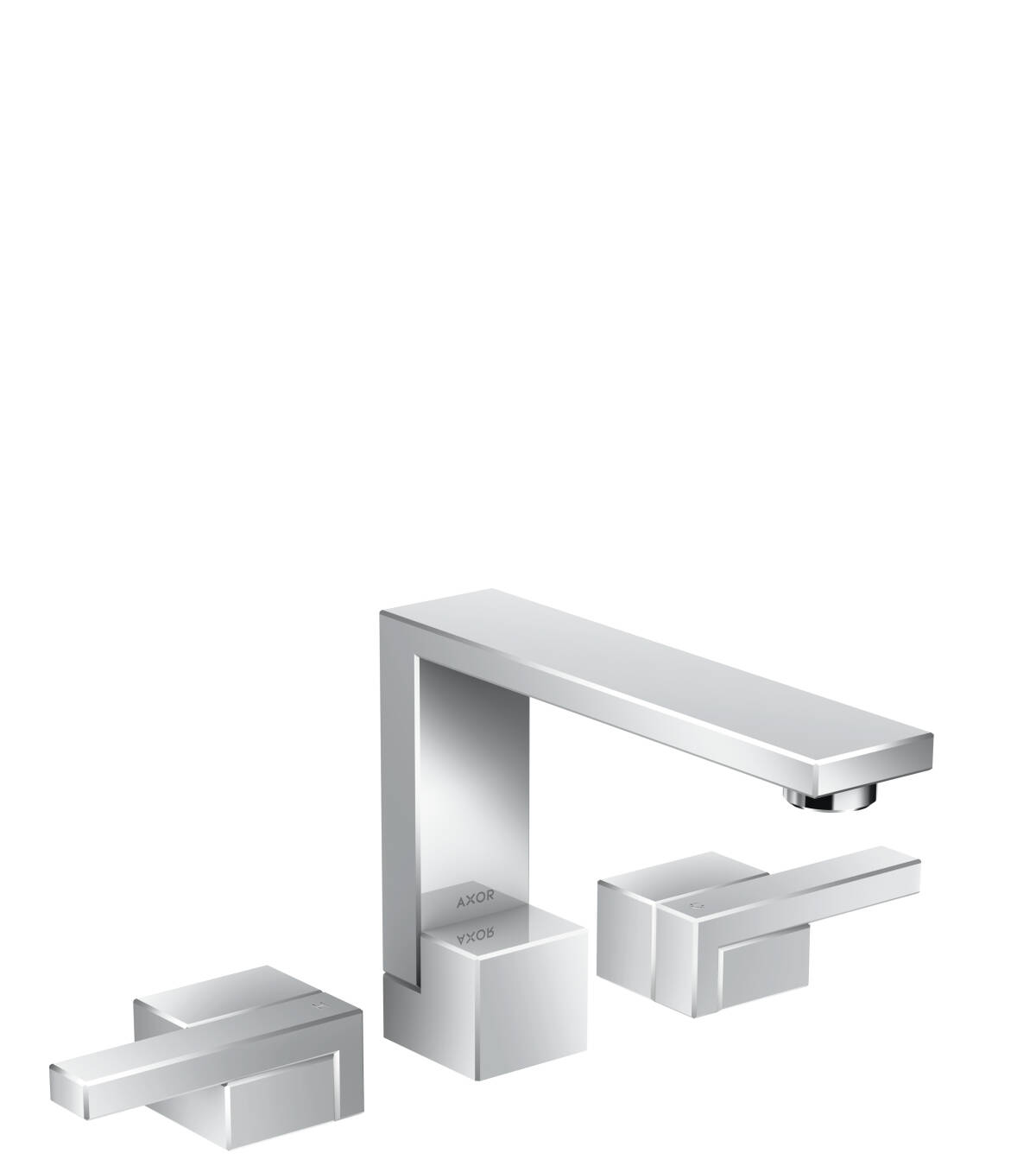 Grifería de lavabo de 3 agujeros 130 con vaciador push-open, cromo, 46050000
