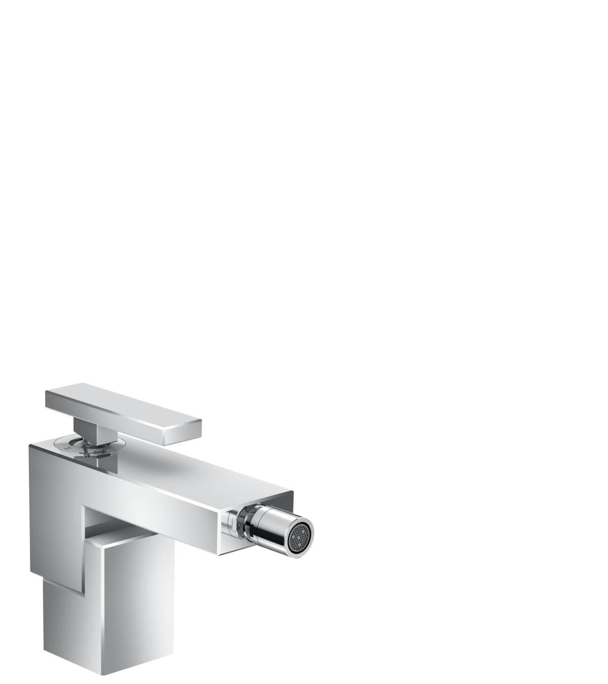 Einhebel-Bidetmischer mit Push-Open Ablaufgarnitur, Chrom, 46210000