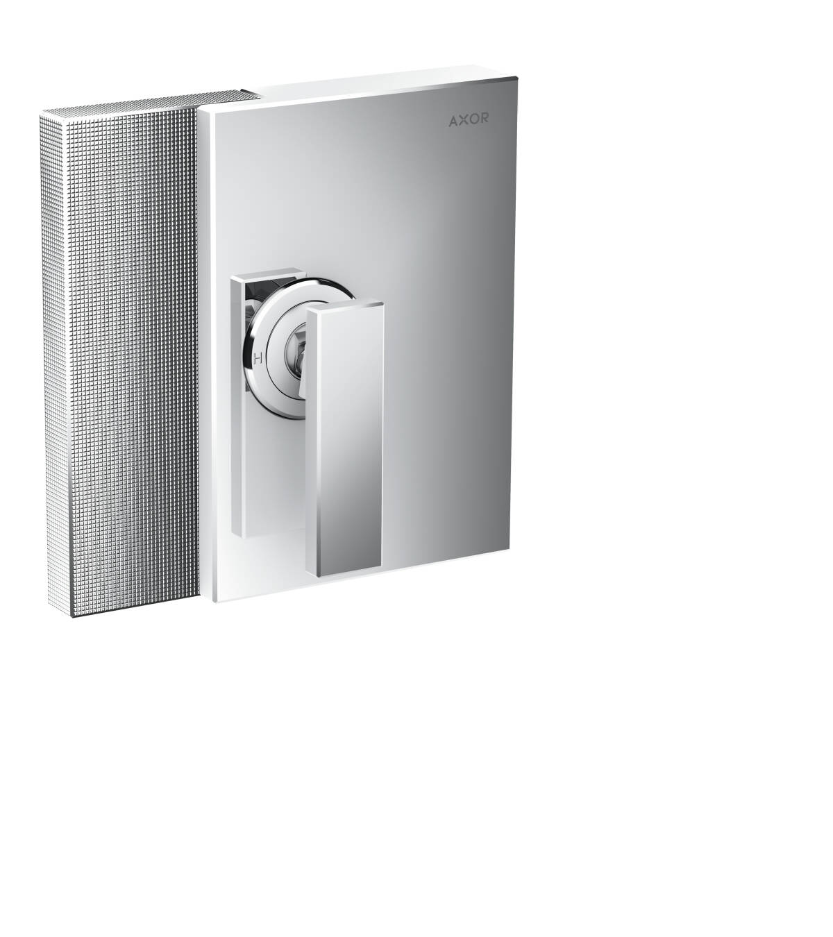 Single lever shower mixer for concealed installation - diamond cut, Chrome, 46651000