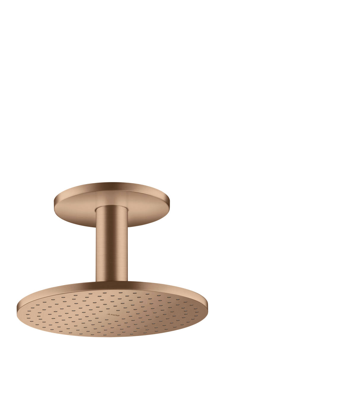 Overhead shower 250 1jet with ceiling connection, Brushed Red Gold, 35286310