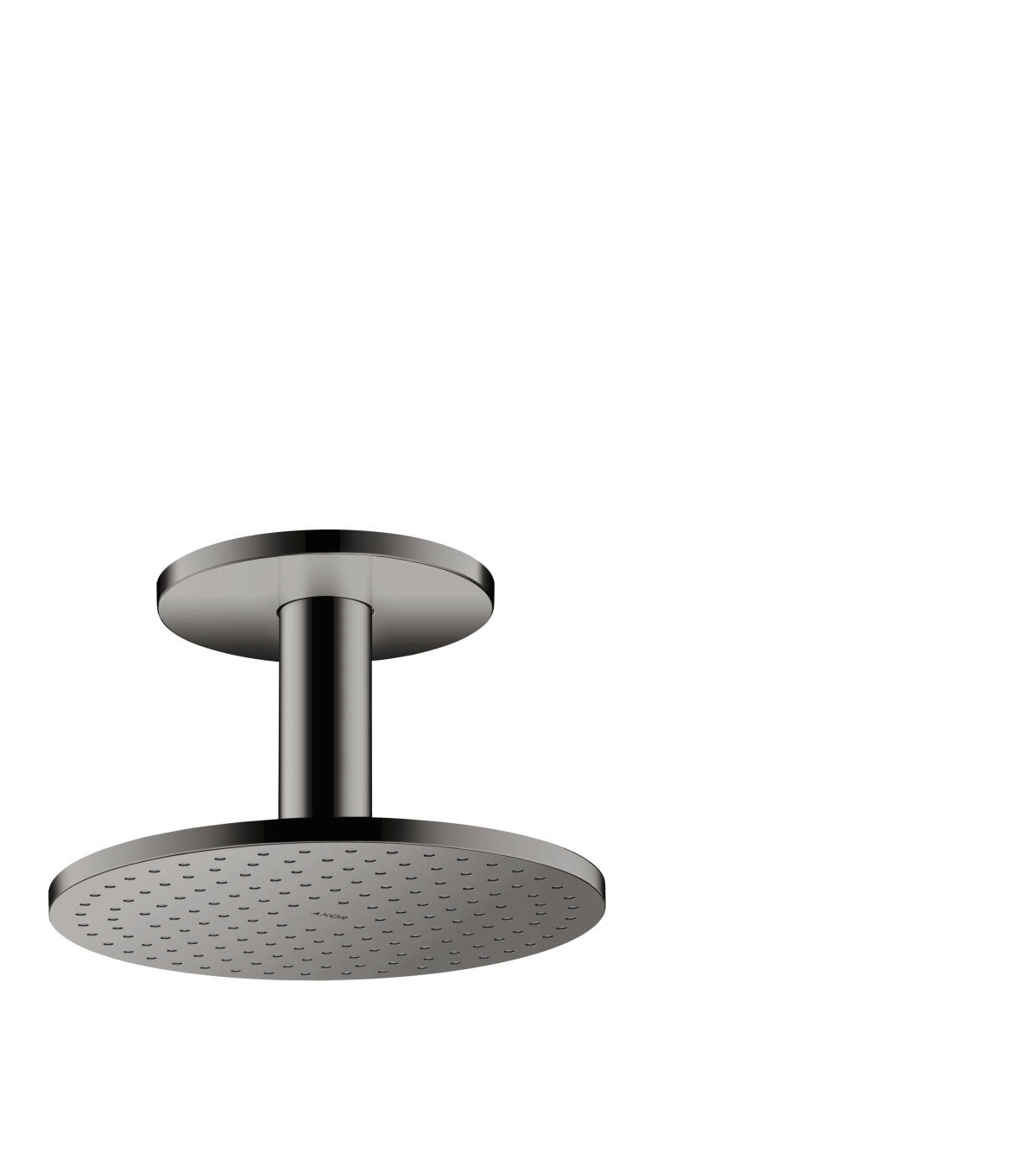 Overhead shower 250 1jet with ceiling connection, Polished Black Chrome, 35286330