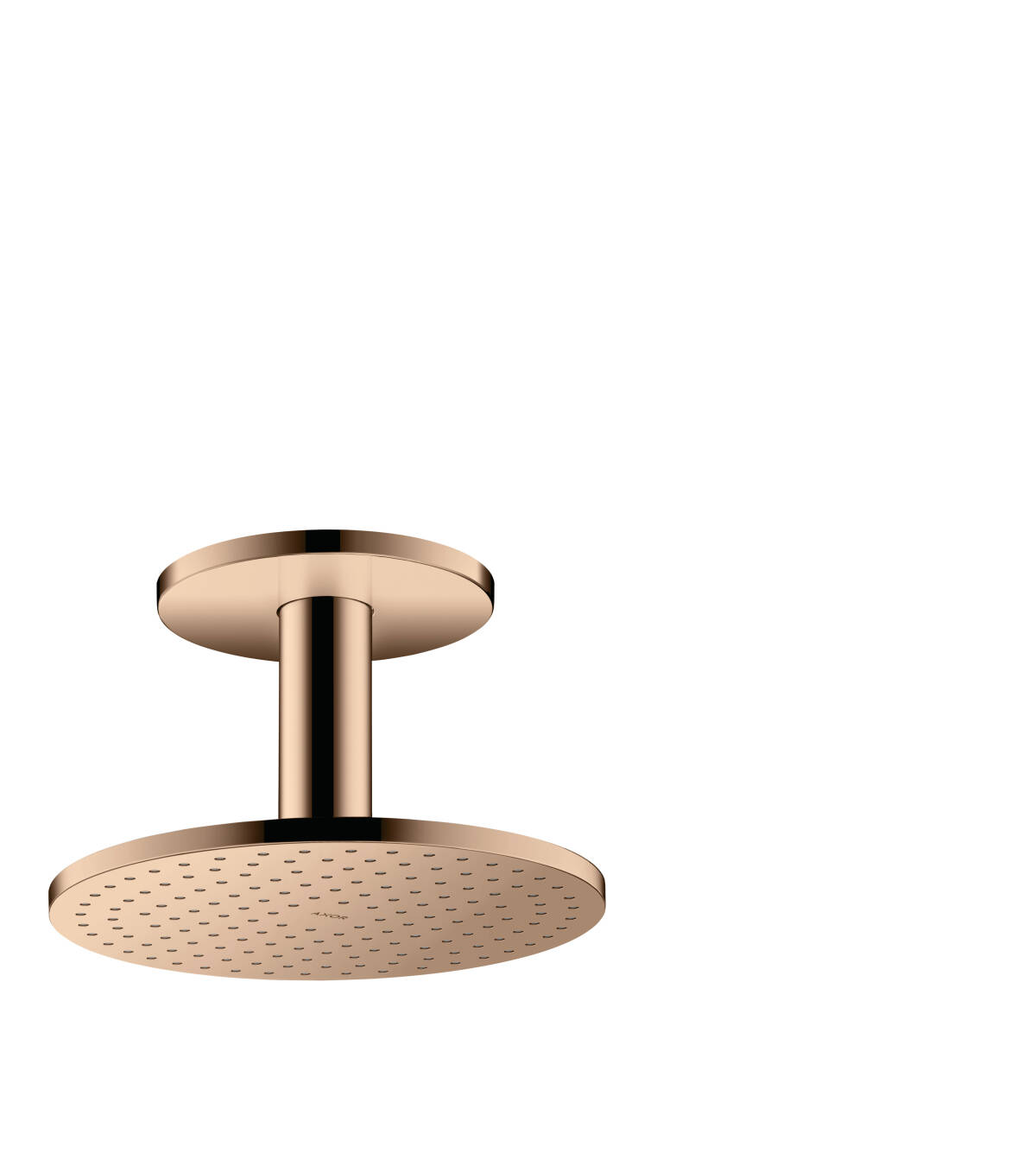 Overhead shower 250 1jet with ceiling connection, Polished Red Gold, 35286300