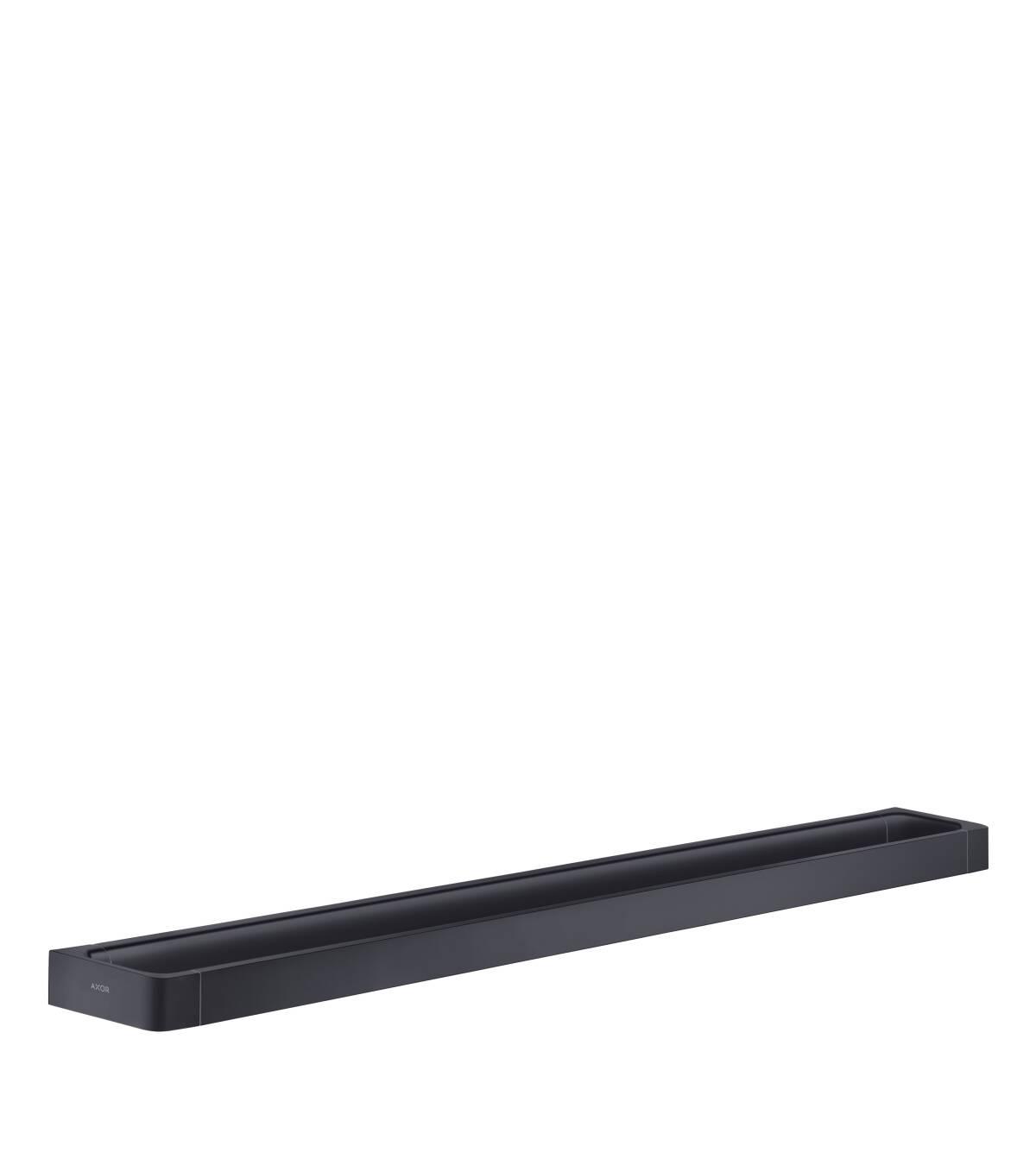 Rail bath towel holder 800 mm, Satin Black, 42833350