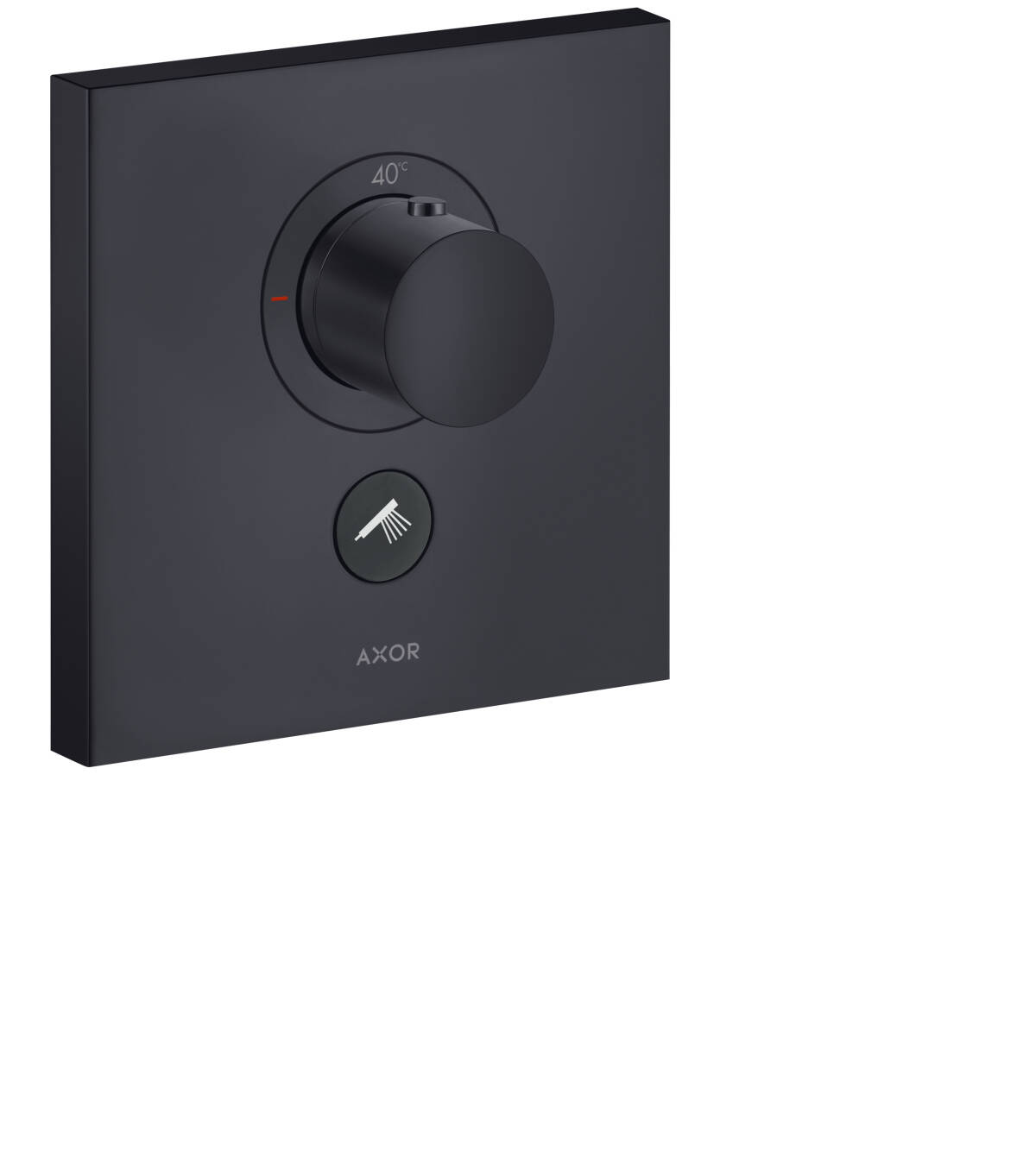 Thermostat HighFlow for concealed installation square for 1 function and additional outlet, Satin Black, 36716350