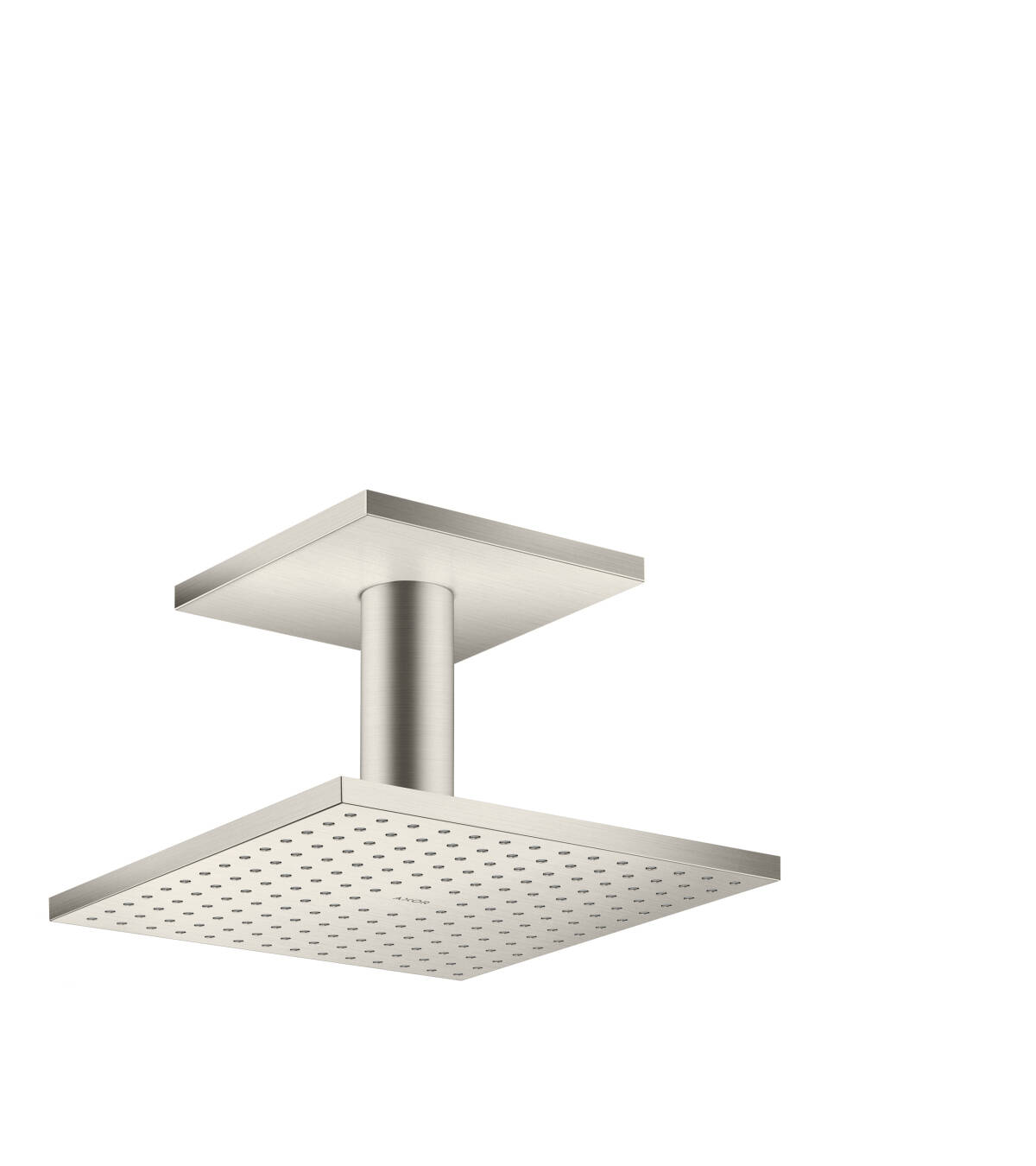 Overhead shower 250/250 1jet with ceiling connection, Stainless Steel Optic, 35308800