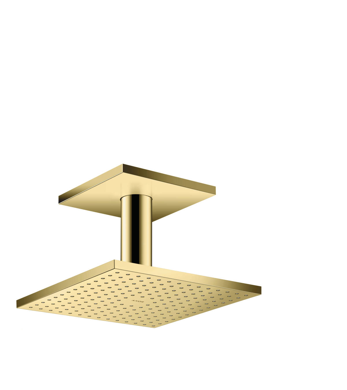 Overhead shower 250/250 1jet with ceiling connection, Polished Brass, 35308930
