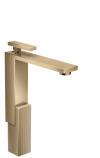 Mezclador monomando de lavabo 280 con vaciador push-open - corte de diamante