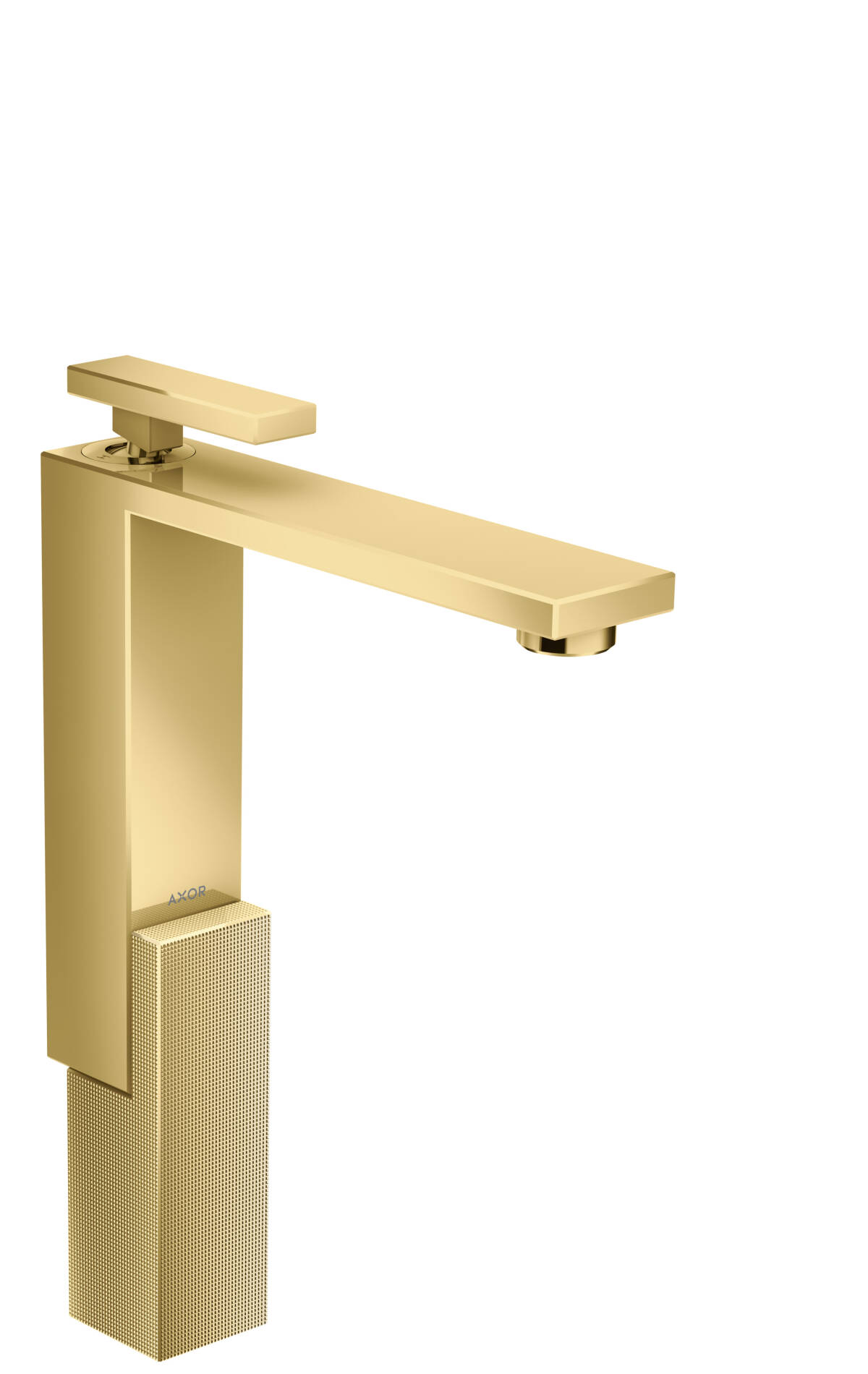 Mezclador monomando de lavabo 280 con vaciador push-open - corte de diamante, color oro pulido, 46031990