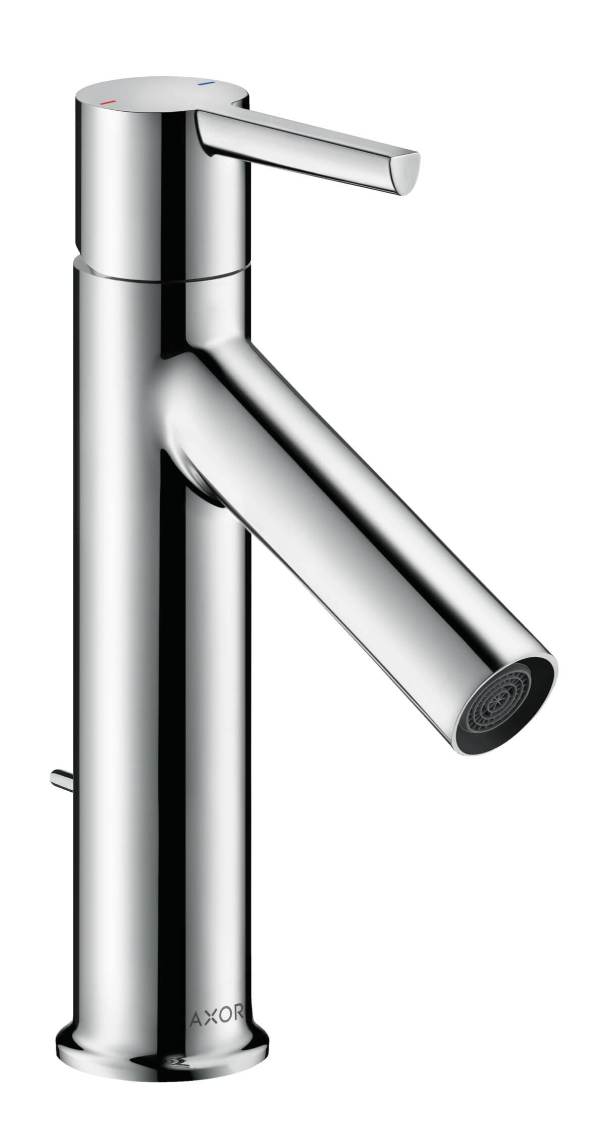 Mezclador monomando de lavabo 100 con manecilla y vaciador automático, cromo, 10001000