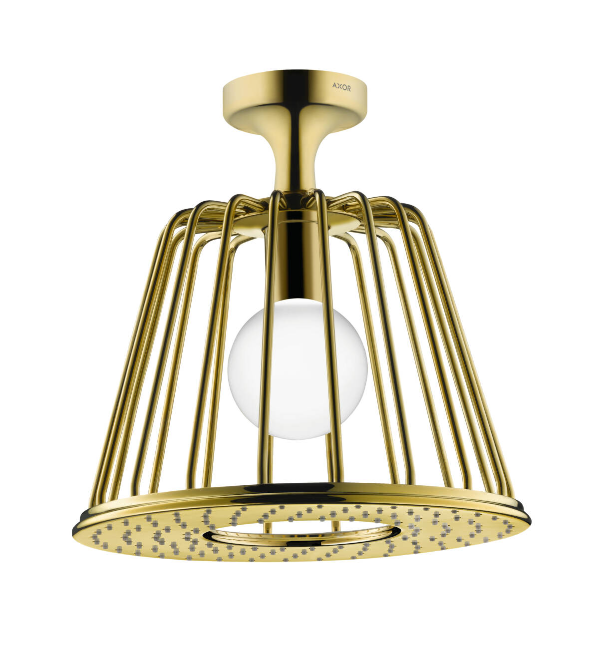 LampShower 275 1jet with ceiling connector, Polished Gold Optic, 26032990