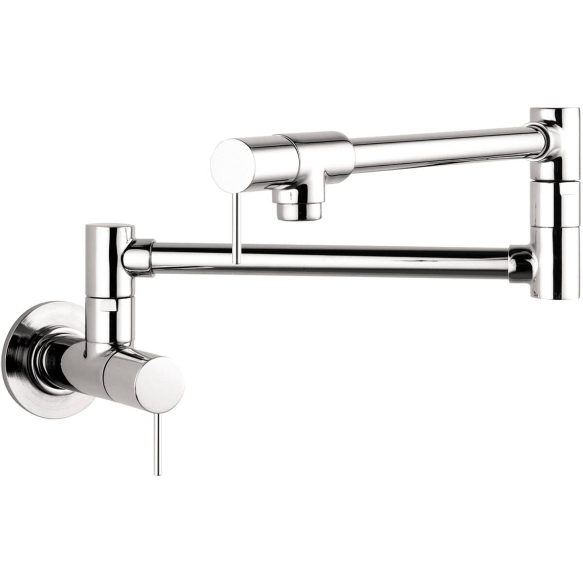 Single lever kitchen mixer wall-mounted, Chrome, 10859001