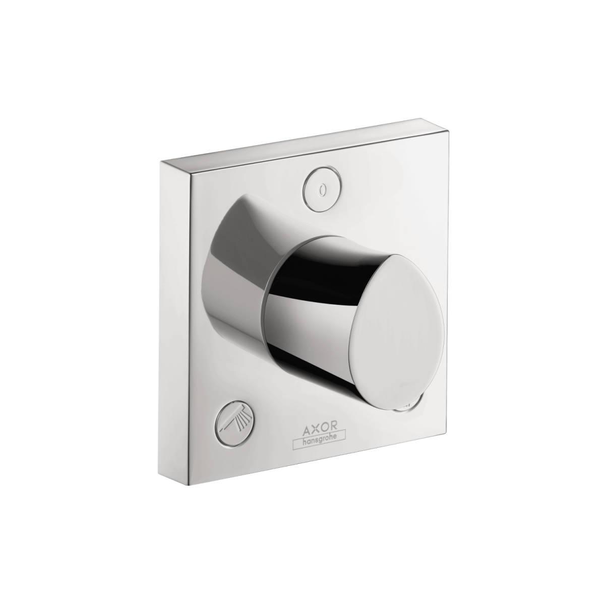 Shut-off/ diverter valve Trio/ Quattro 120/120 for concealed installation, Chrome, 12731001