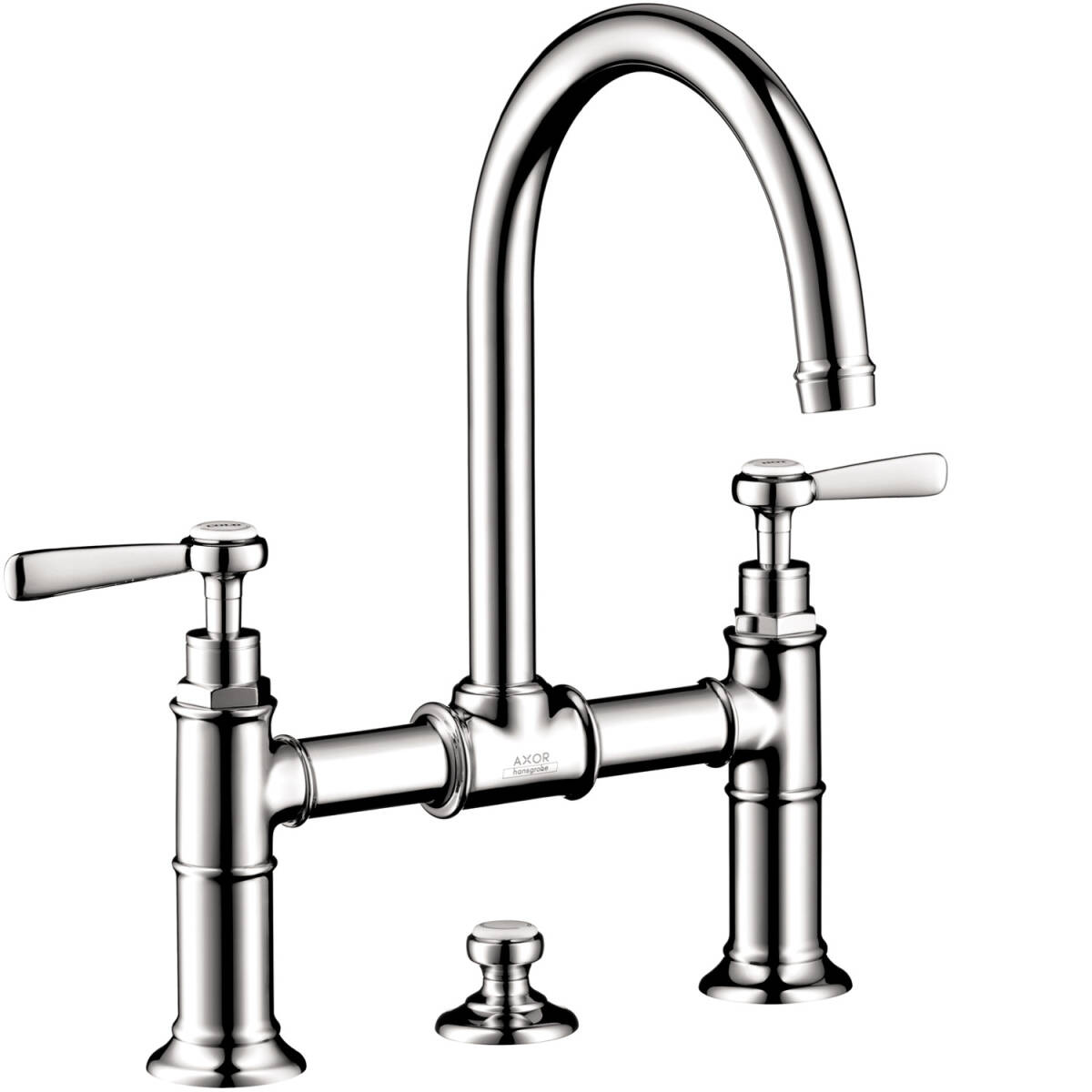 2-handle basin mixer 220 with lever handles and pop-up waste set, Chrome, 16511001
