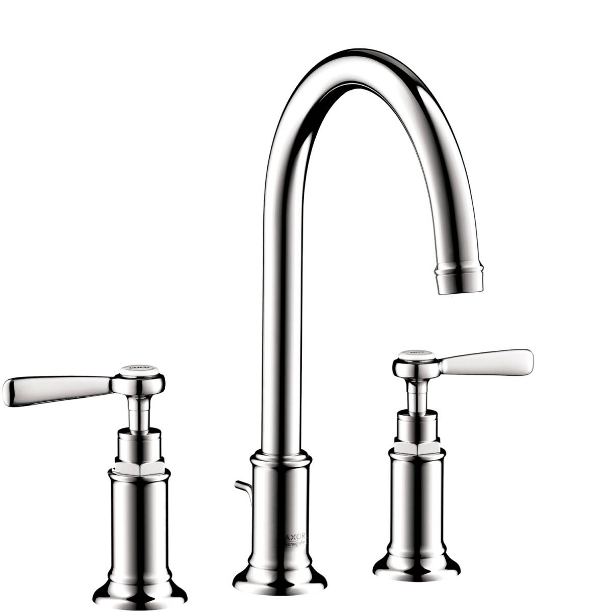 3-hole basin mixer 180 with lever handles and pop-up waste set, Chrome, 16514001