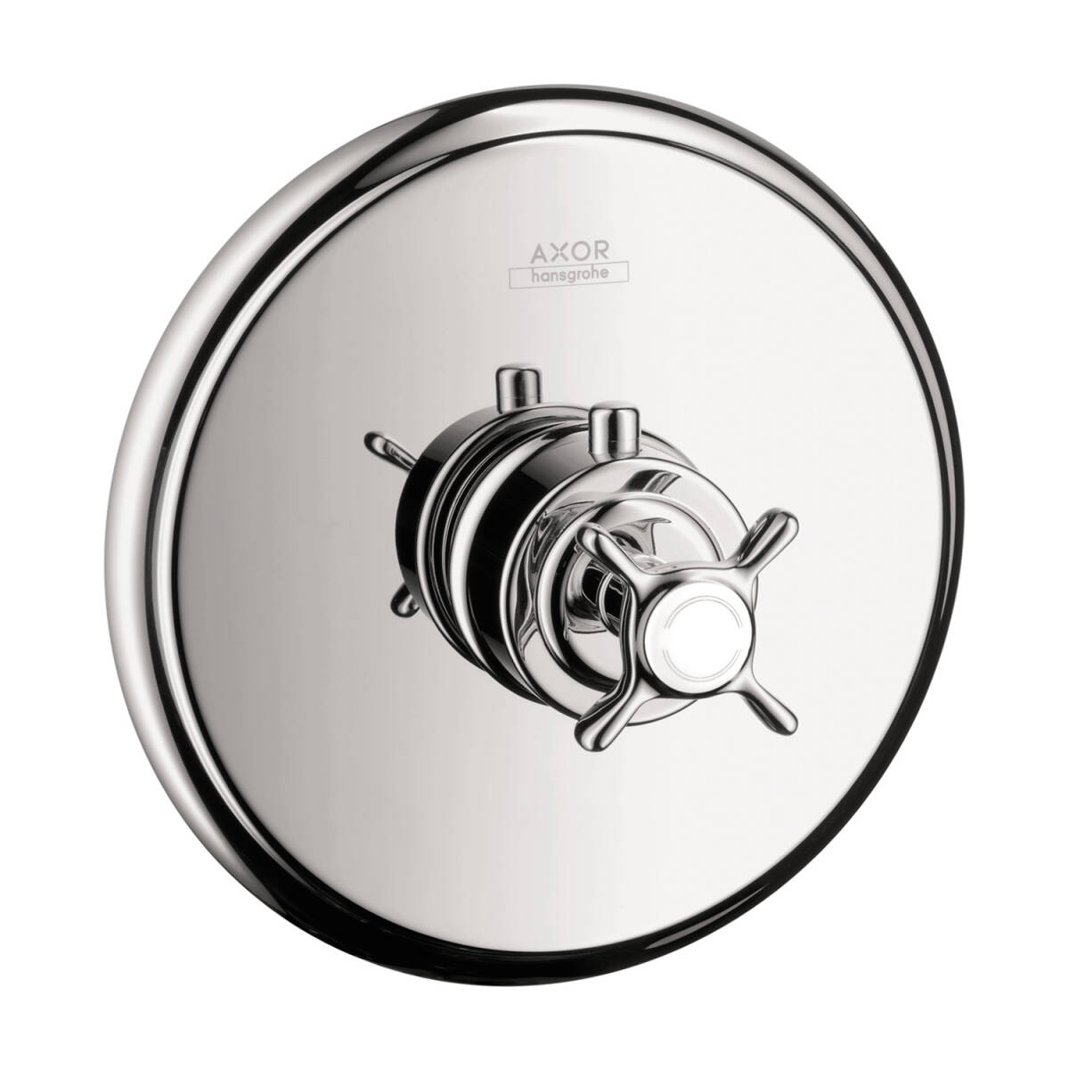 Thermostat for concealed installation with cross handle and shut-off valve, Chrome, 16816001