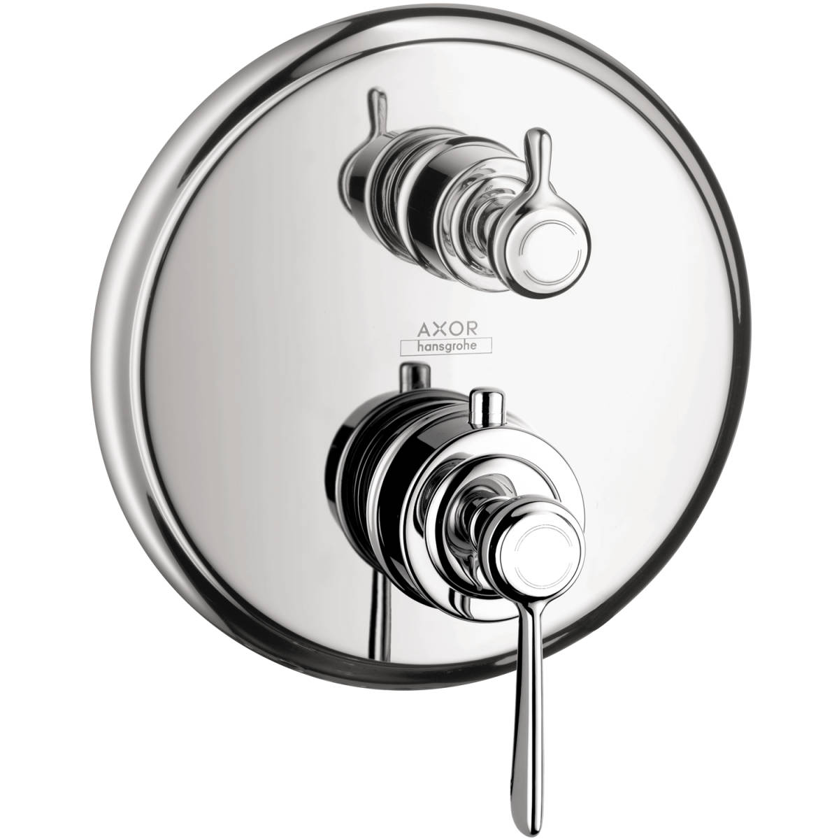 Thermostat for concealed installation with lever landle and shut-off/ diverter valve, Chrome, 16821001