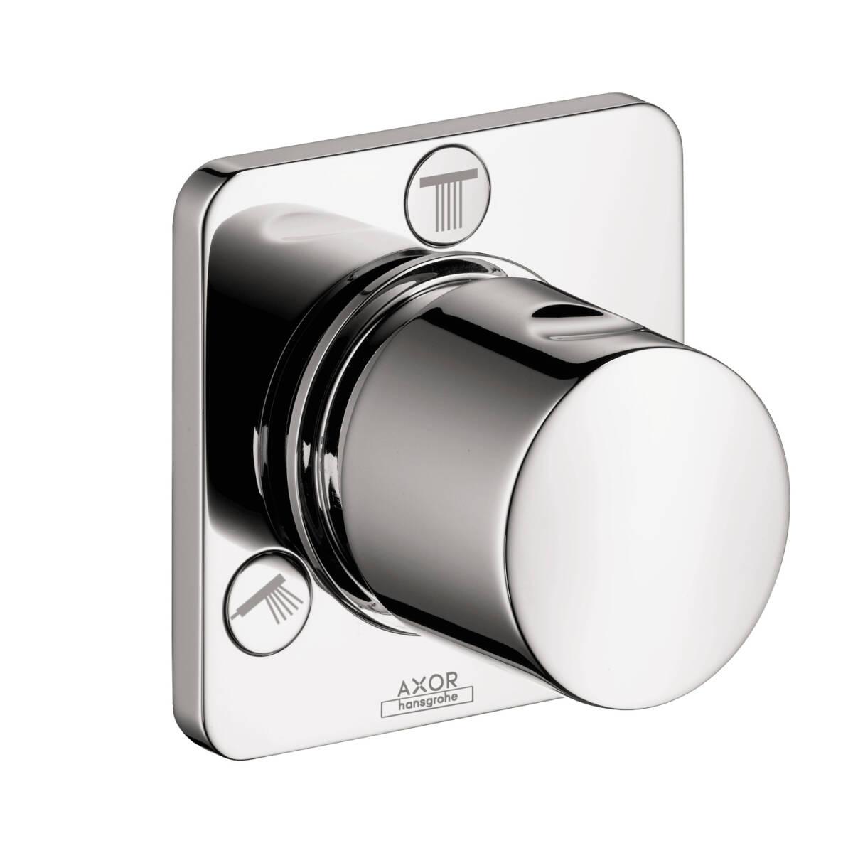 Shut-off/ diverter valve Trio/ Quattro for concealed installation, Chrome, 34934001