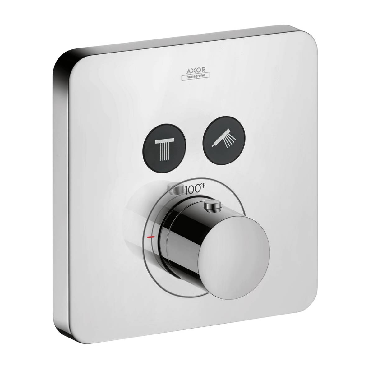Thermostat for concealed installation softcube for 2 functions, Chrome, 36707001