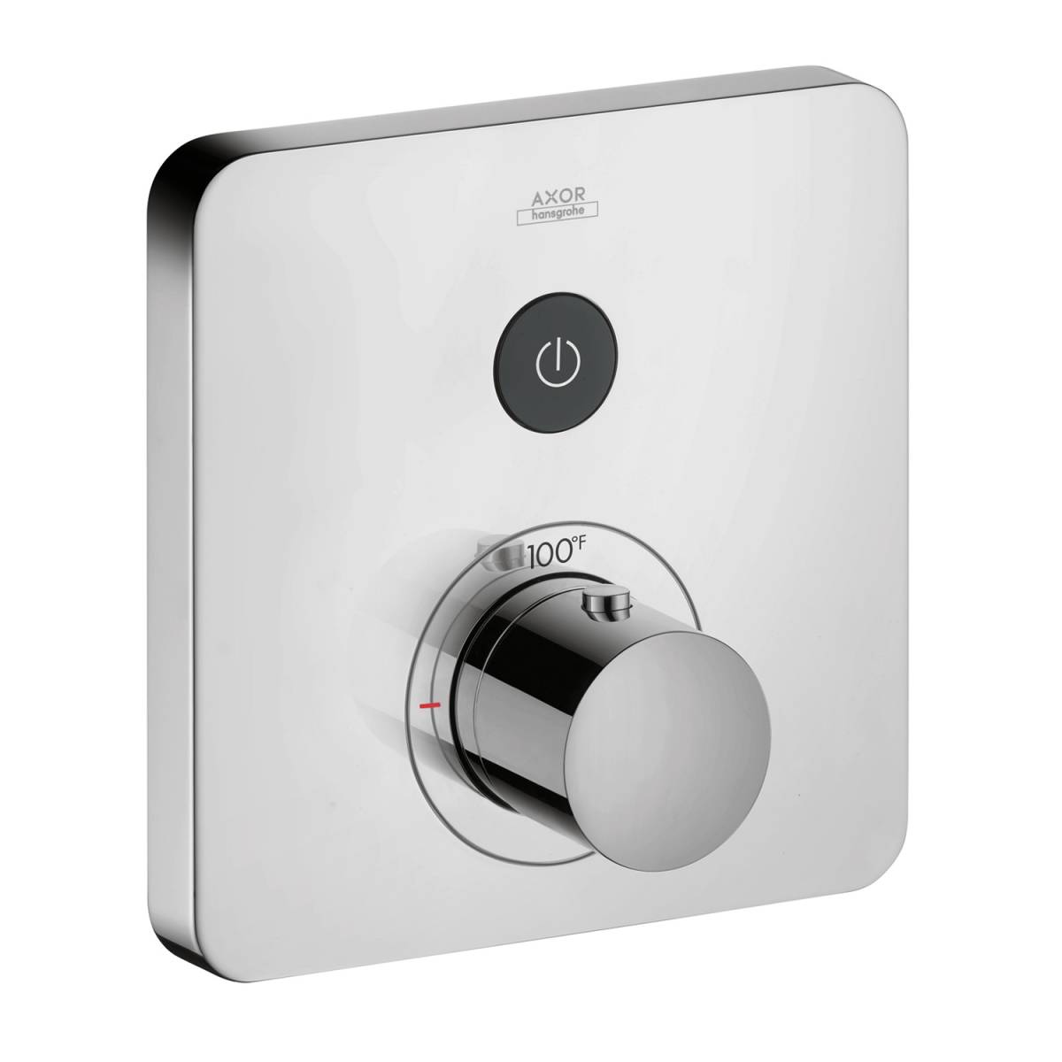Thermostat for concealed installation softcube for 1 function, Chrome, 36705001