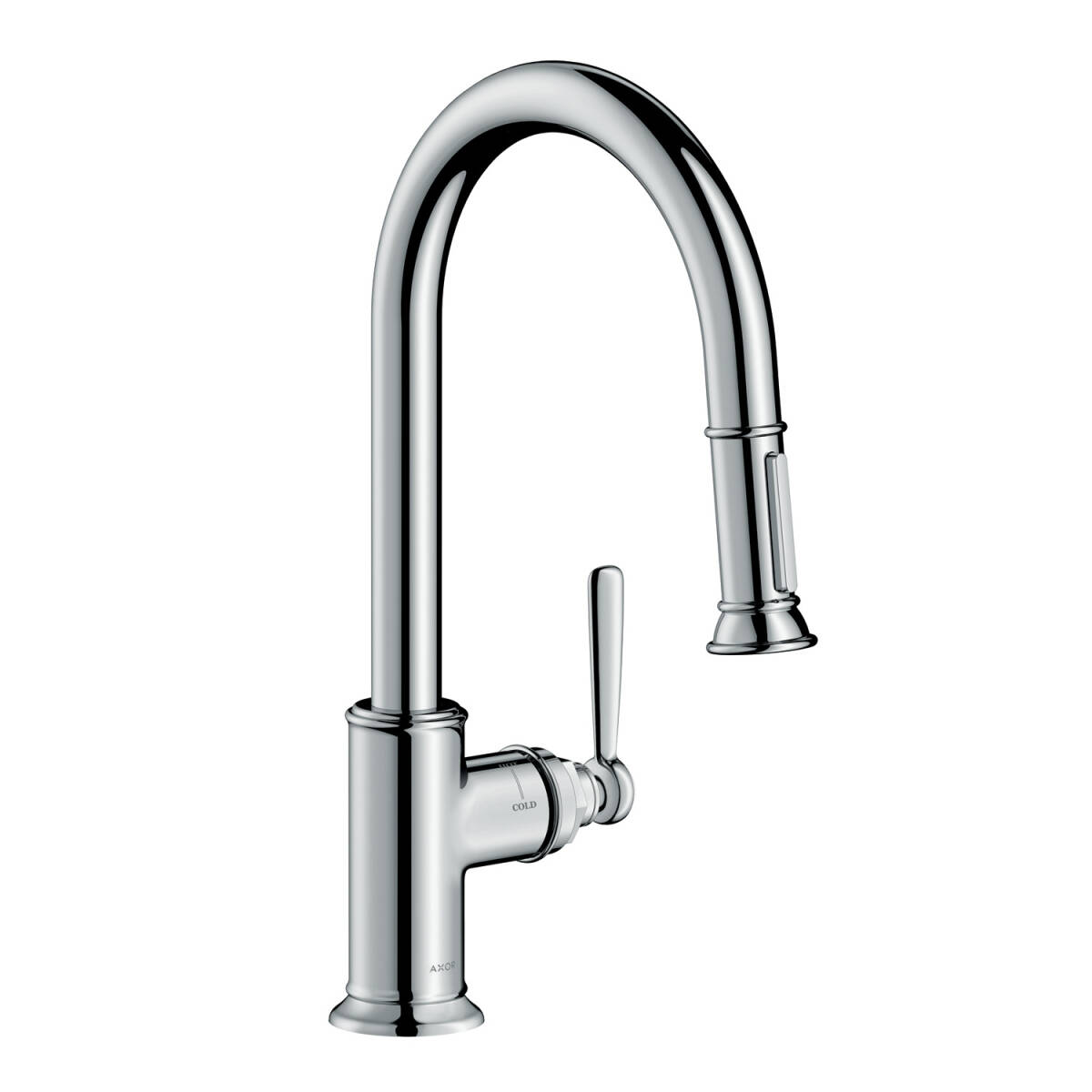Single lever kitchen mixer 180 with pull-out spray, Chrome, 16581001