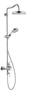 Showerpipe with thermostat and overhead shower 240 1jet 2.0 GPM