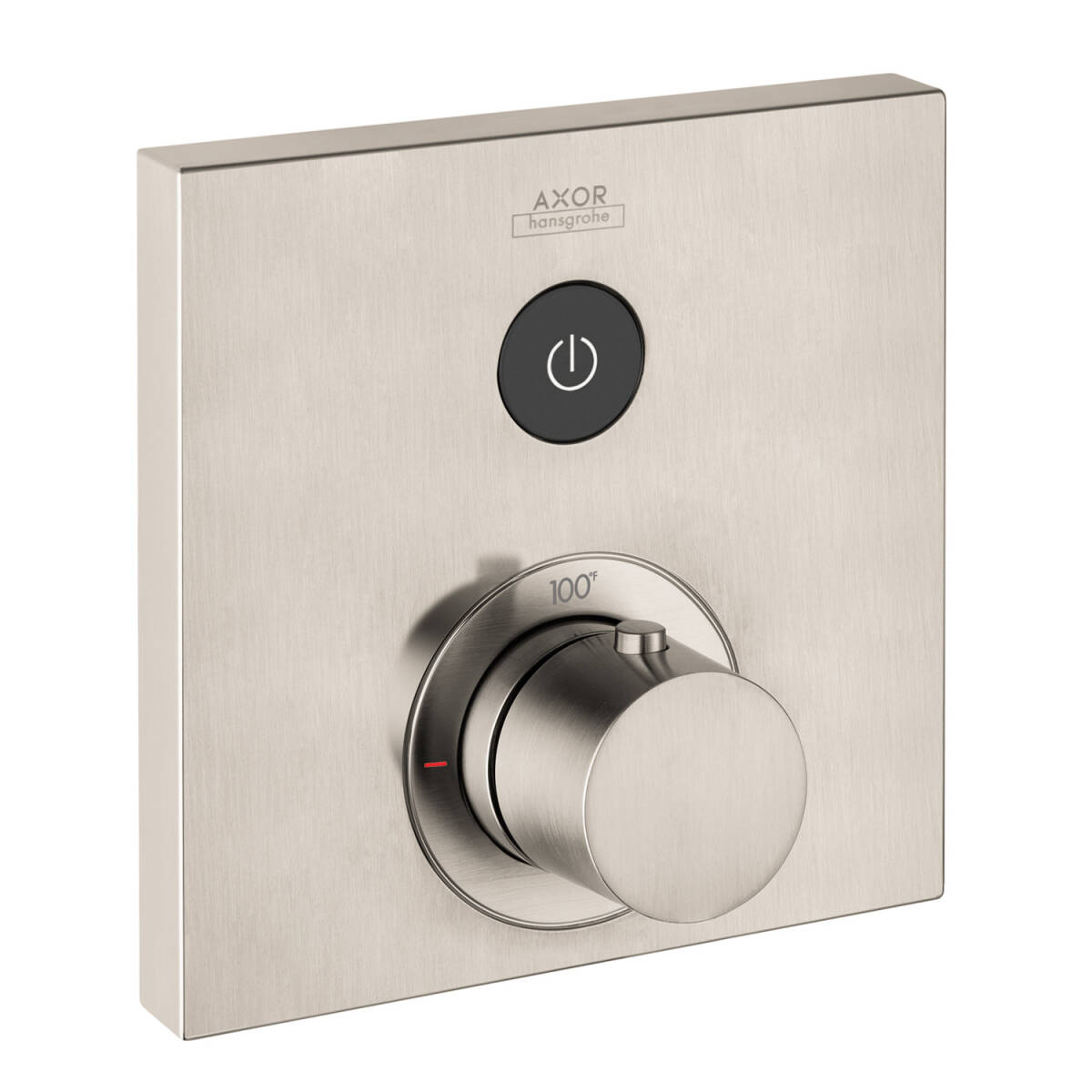 AXOR ShowerSelect Square Thermostatic 1-Function Trim, brushed nickel, 36714821