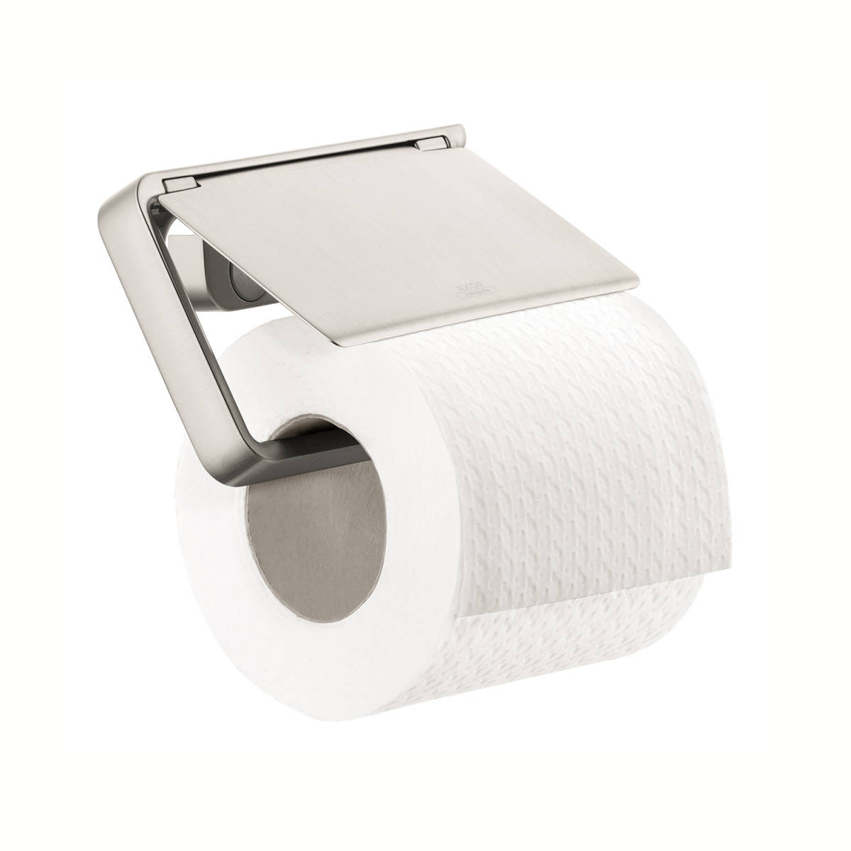 Roll holder with cover, Brushed Nickel, 42836820