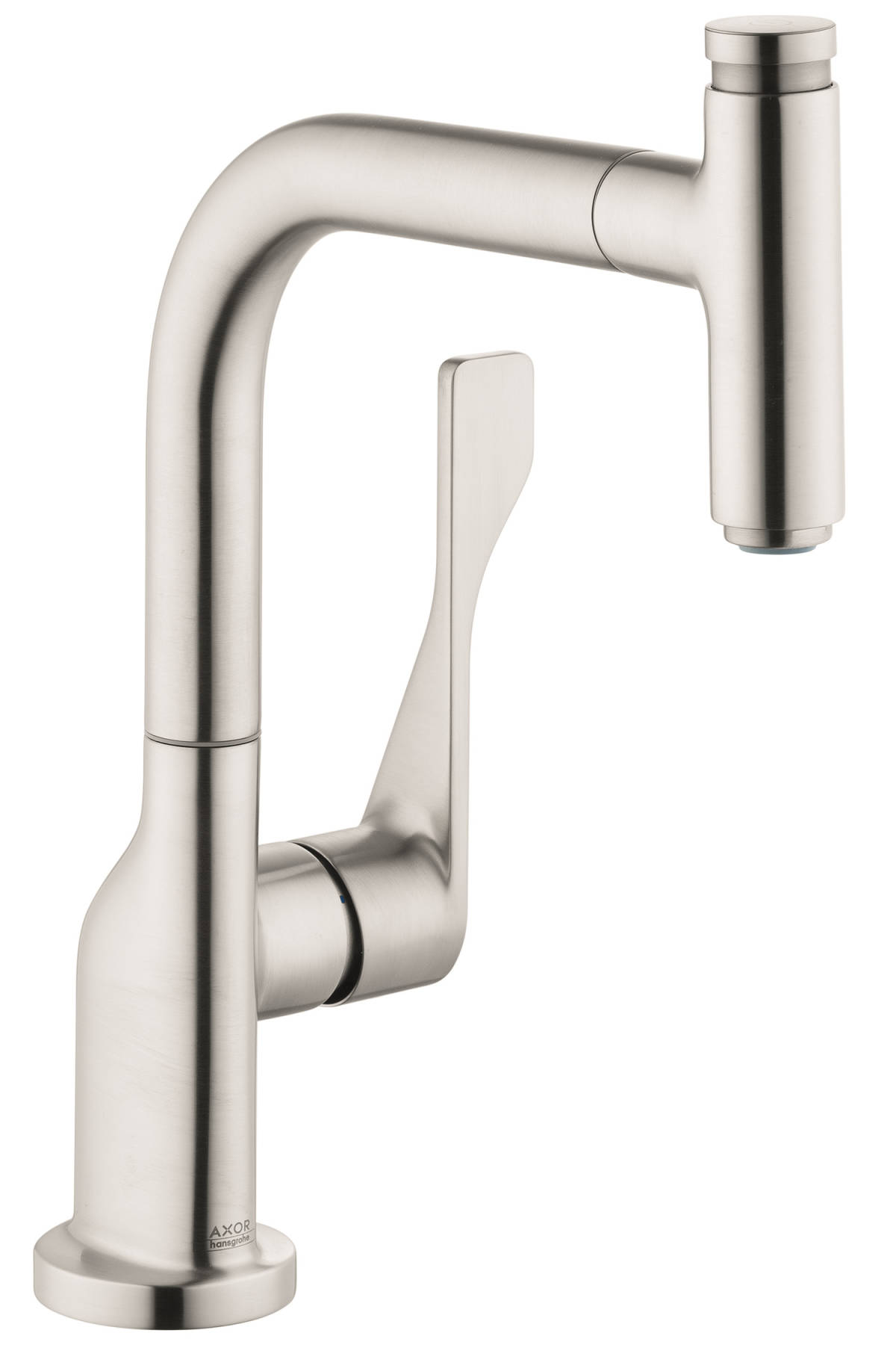 AXOR Citterio Select 1-Spray Kitchen Faucet, Pull-Out, 1.75 GPM, steel optic, 39861801