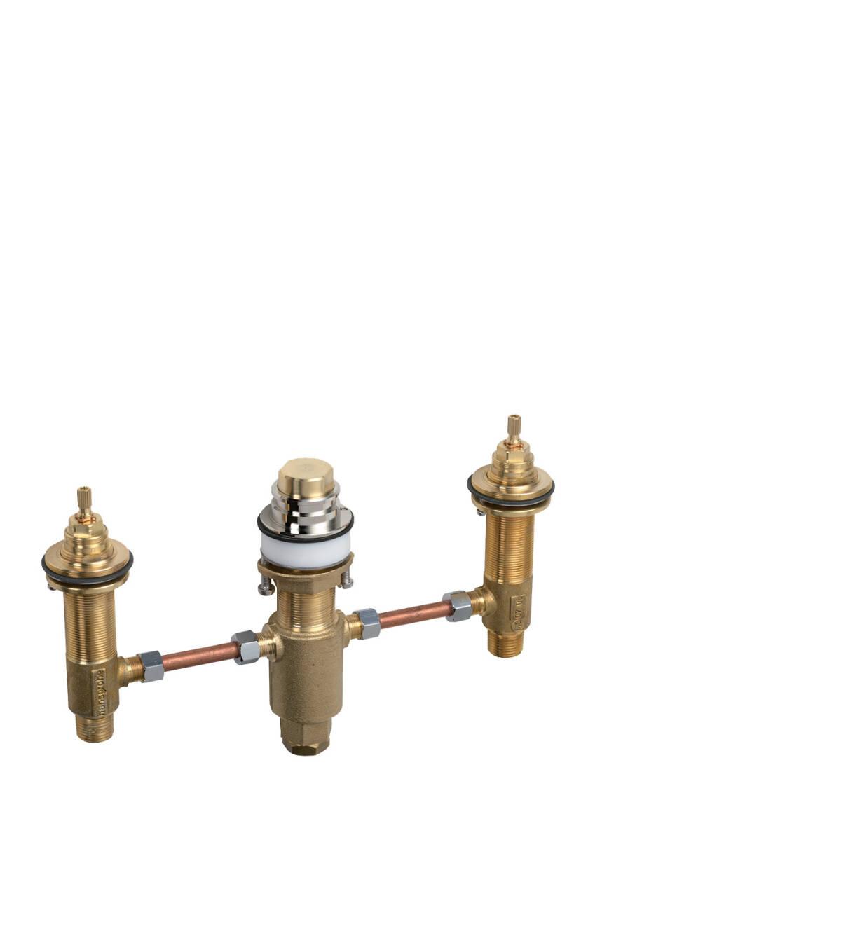 Basic set for 3-hole rim mounted bath mixer, n.a., 15484180