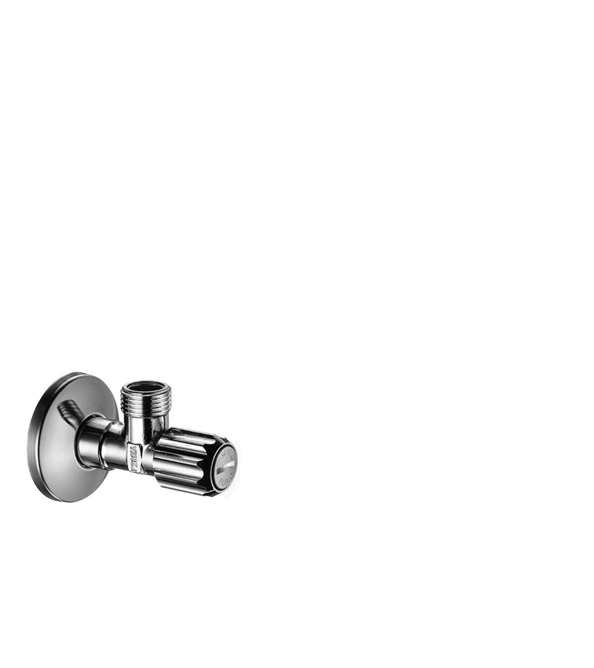 Angle valve with microfilter outlet G 3/8, Chrome, 51308000