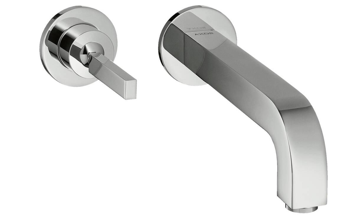 Mezclador monomando de lavabo empotrado caño 165mm, cromo, 39113000